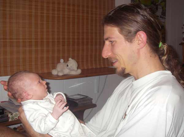 Andy and Baby (12 days old)