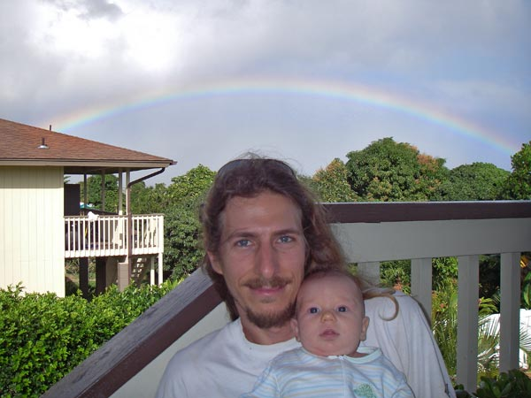 Rainbow on our lanai (porch)